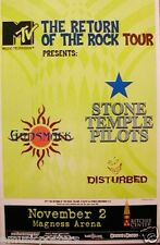"Godsmack/Stone Temple Pilots/Disturbed 2000 ""Return Of Rock Tour"" Concert Poster"