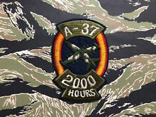 FLIGHT HOURS A-37 DRAGONFLY AIR FORCE SQUADRON ,2000  PATCH USAF 2000 FLIGHT