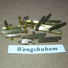 M2 Female x M2 Female Brass Standoff - 2mm to 34mm