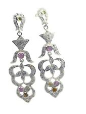 Multi 925 Sterling Silver genuine bewitching Tourmaline suppiler Earring AU gift