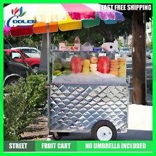 Fruit Cart Vending Street Vendor Food Veggie Ice Insulated Portable Commercial