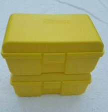 2 Vintage CLIK COOLER Mini Juice Box Insulated 7 x 4 x 3 Yellow Insulin Diabetic