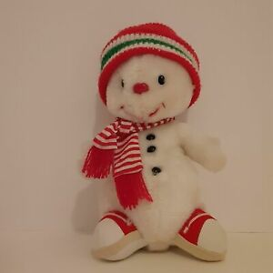"""Vtg Russ Berrie Snowflake 10"""" Musical Plush Plays Frosty The Snowman Christmas"""