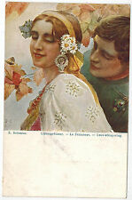 Art of Russian Artist Solomko, Love-whispering, issued by T.S.N. #13, 1910s