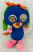 Mattel GOOGLIES psychedelic DOG stuffed animal plush toy puppy RARE 1966 H