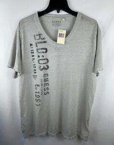 Guess Mens T-Shirt Gray Size XXL Crewneck Short Sleeve NEW