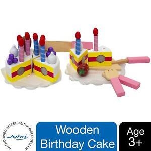 Beluga Wooden toy Birthday Cake Play Set (Multi-Colour), 30 Pieces