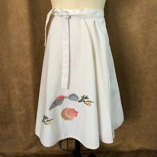 L Vintage Shirley Gadol Sea Shell Wrap Circle Skirt womens large beach wear