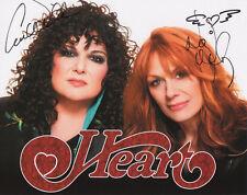 HEART ANN & NANCY WILSON SIGNED COLOR 8X10 PROMO PHOTO RARE !!!!!!!!!