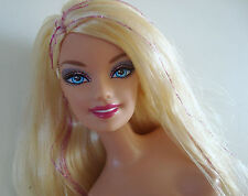 Barbie Doll Nude Jointed Blonde W/Pink Foil Streaks New!