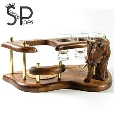 "wooden vodka/shot set ""Mammoth"". Best HANDMADE accessories for home / office"