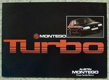 MG MONTEGO TURBO Car Sales Brochure c1987? #3711