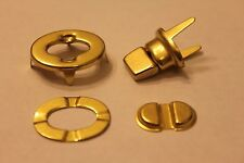 TWO SETS Replacement BRASS TURN LOCK Hardware For Vintage Famous Maker Bags