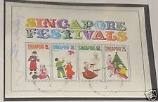 Singapore stamps - Festivals Miniature Sheet signature1