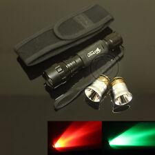 UltraFire 501B CREE Red Light and Green Light Bulb LED Flashlight Torch Holster