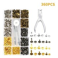 360 Leather Rivet Double Cap Rivets Set Metal Fixing Tools Kit For Leather Craft