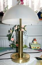 Wofi Leuchten Tischleuchte Tischlampe Messing Kunstglasschirm H.43cm Antik Look