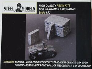 Steel Models Checkpoint with Road Block Wall Middle East & Balkans 1/72 Scale