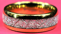 Men's/Unisex Tungsten 8mm Wide Meteorite Classic  Wedding Engagement Band Ring