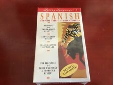 Living Language Spanish Complete Living Course 2 Cassette Tapes Books