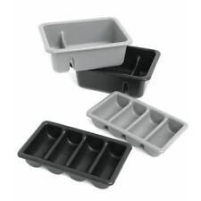 "Golden West Tough Guys Tote Box Grey Plastic 2 Compartment - 22""L x 16""W x 7""H"