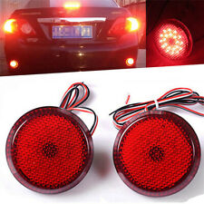 2Xred Lens Led Rear Bumper Reflector Light For Scion xB iQ Toyota Sienna Corolla (Fits: Scion)