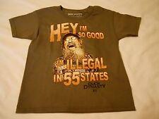 Boys Tee Shirt Sz S 6/7 Duck Dynasty Charcoal  Hey I'm So Good I'm Illegal