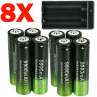 8x Rechargeable Battery 3.7V Li-ion Batteries with Smart Charger For Flashlight