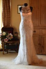 Tulle Column/Sheath Sleeve Wedding Dresses