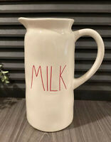 Rae Dunn MILK White Red LL 2018 Pitcher *FREE SHIPPING*