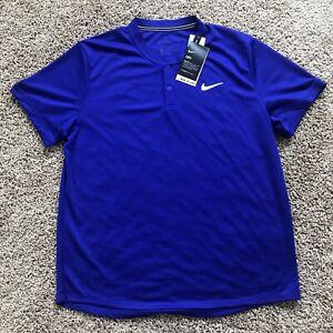 NEW Nike Court Dri Fit Blade Polo Men's Size Large Blue/purple Color
