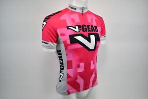 3XL Women's Verge V Gear Race Cut Short Sleeve Cycling Jersey Pink/Grey CLOSEOUT