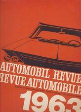 Libro Automobil Revue 1963 book Revue Automobile Hallwag Berna catalogo vintage