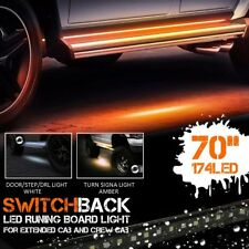2PC 70'' 120SMD LED Amber White Switchback Strip Car Truck SUV Step Signal Light