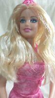 Rare 2012 Mattel Barbie Doll Soft Flexible Body Pink Shoes & Tiara BCP 34