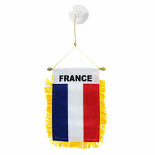 France French Mini Banner Flag Car & Home Window Mirror Hanging 2 Sided