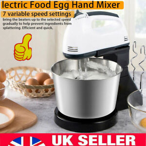 7 Speed + Cake Electric Stand Mixer Food Multi Mixing Bowl Blender Beater Dough