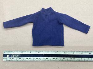 """1/6 scale or 12"""" figure clothing male clothing long sleeve navy blue shirt"""
