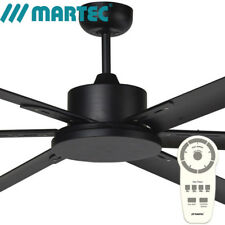 Martec ALBATROSS Matt Black DC 72″ Ceiling Fan with Remote Control No Light MA