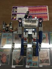 TRANSFORMERS SOUNDWAVE & BUZZSAW Vintage G1 Action Figures COMPLETE 1984