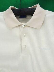 NETJETS Duck & Hyde L large men's striped polo golf shirt