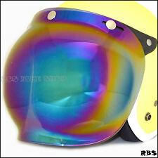 Flip up rainbow Lens shield visor for cafe racer motorcycle AGV Arai Bell helmet