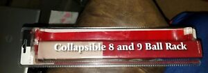 Sportcraft Billiards Collapsible 8 and 9 Ball Rack Red New in Package