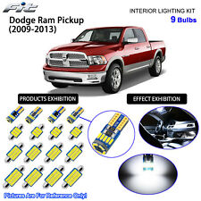 9 Bulbs LED Interior Dome Light Kit Cool White For 2009-2013 Dodge Ram Pickup