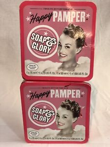 2 BOXES OF SOAP & GLORY HAPPY CAMPER SET W/ RIGHTEOUS BUTTER & CLEAN ON ME 6744