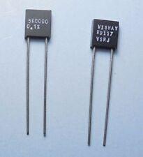 Qty(2) Vishay 5.0000K VSRJ Metal Foil Resistors 0.1% Copper Leads NOS