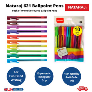 NATARAJ 621 Joi Multicoloured Smooth Ballpoint Pens