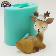 Sika Deer Silicone Mold Cake Candle Decoration Handmade 3D Animal Chocolate Form