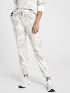 ATHLETA Farallon Printed Jogger NEW - Size 12 Inversion Light Grey $109 #657547