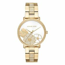 Michael Kors Ladies Jaryn Pave Gold‑Tone Watch - MK3864 %100 AUTHENTIC